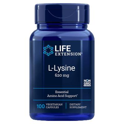 Life Extension L-Lysine, 620 mg 100 Vegetarian Capsules