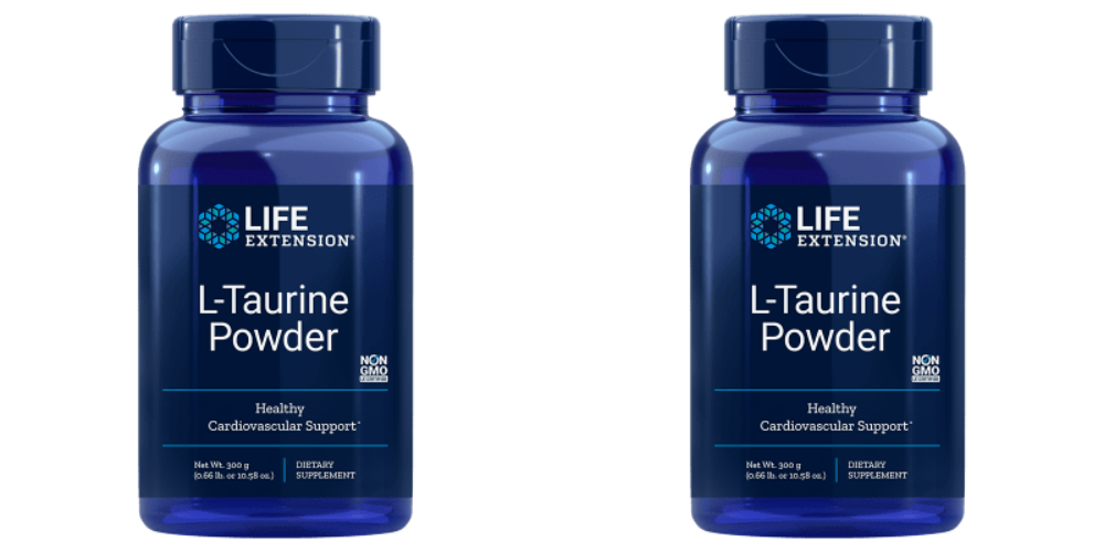 Life Extension L-Taurine Powder, 300 Grams, 2-pack