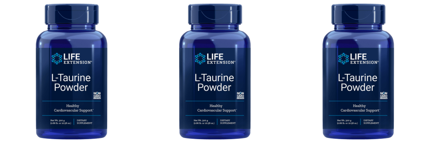 Life Extension L-Taurine Powder, 300 Grams, 3-pack