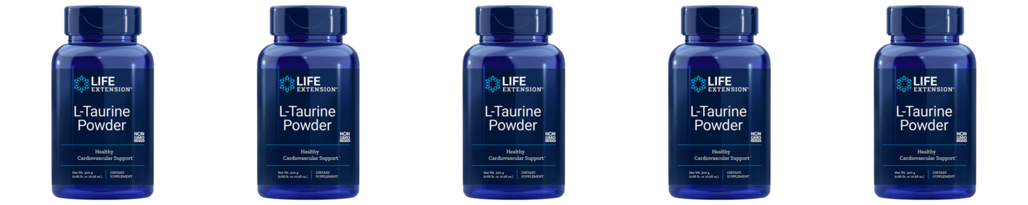 Life Extension L-Taurine Powder, 300 Grams, 5-pack