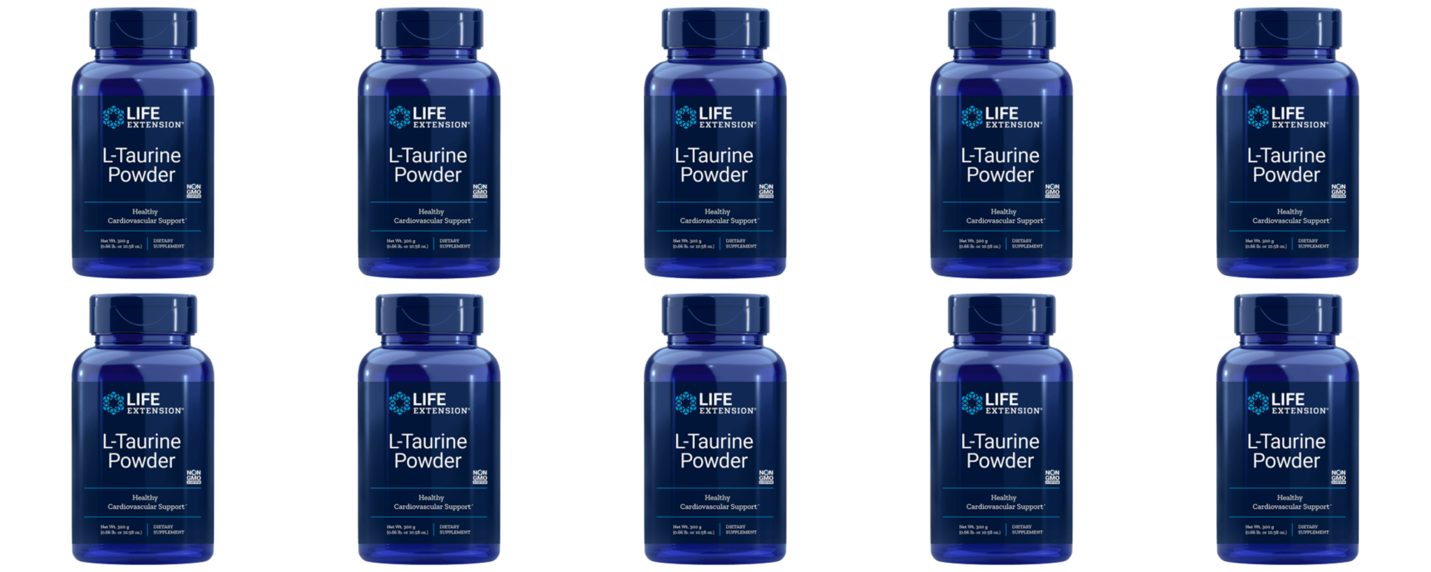 Life Extension L-Taurine Powder, 300 Grams, 10-pack