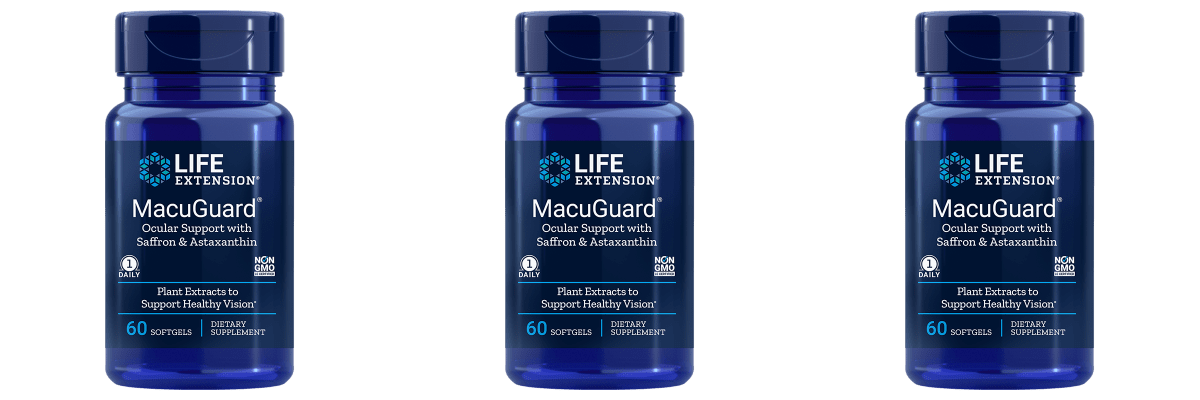 Life Extension Macuguard Ocular Support With Astaxanthin, 3-pack