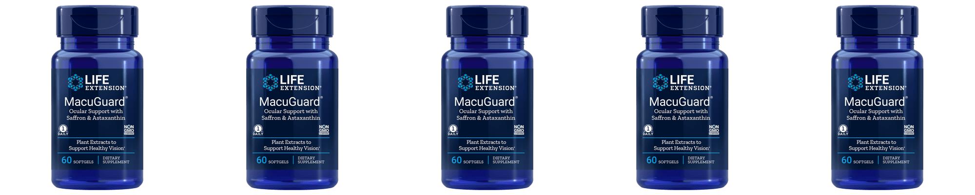 Life Extension Macuguard® Ocular Support With Astaxanthin 5-pack