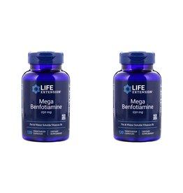 Life Extension Mega Benfotiamine, 250 Mg, 120 Vegetarian Capsules, 2-packs