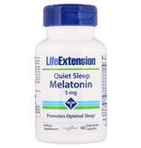 Life Extension Quiet Sleep, Melatonin, 5mg, 60 Vegetarian Capsules