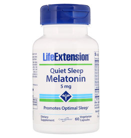 Life Extension Quiet Sleep, Melatonin, 5mg, 60 Vegetarian Capsules