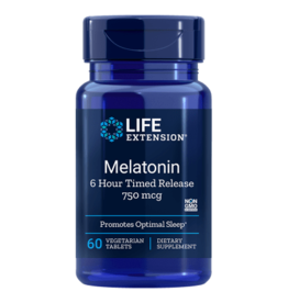 Life Extension Melatonin 6 Hour Timed Release, 750 mcg