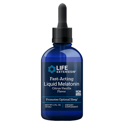 Life Extension Fast-Acting Liquid Melatonin, 3 Mg 2 Oz.