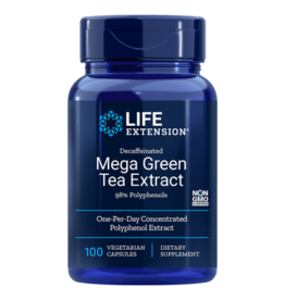 Life Extension Decaffeinated Mega Green Tea Extract, 100 Vegetarian Capsules