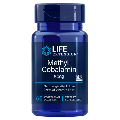 Life Extension Methylcobalamin, 5 mg 60 Vegetarian Lozenges