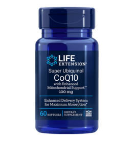 Life Extension Super Ubiquinol CoQ10 with Enhanced Mitochondrial Support 100 mg, 60 Softgels