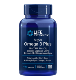 Life Extension Super Omega-3 Plus EPA/DHA with Sesame Lignans, Olive Extra, Krill & Astaxanthin, 120 Softgels