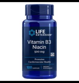 Life Extension Vitamin B3 Niacin 500 mg, 100 Capsules
