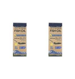 Wiley's Finest Wild Alaskan Fish Oil, Peak Omega-3 Liquid, Natural Lemon Flavor, 2,150 Mg, 4.23 Fl Oz (125 ml), 2-pack