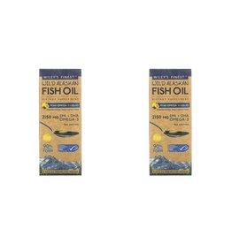 Wiley's Finest Wild Alaskan Fish Oil, Peak Omega-3 Liquid, Natural Lemon Flavor, 2,150 Mg, 8.45 Fl Oz (250 ml), 2-pack