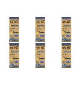 Wiley's Finest Wild Alaskan Fish Oil, Peak Omega-3 Liquid, Natural Lemon Flavor, 2,150 Mg, 8.45 Fl Oz (250 ml), 6-pack
