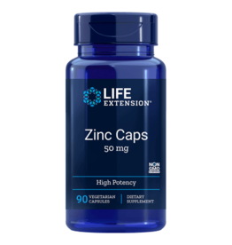 Life Extension Zinc Caps High Potency, 50 mg, 90 Vegetarian Capsules