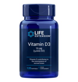 Life Extension Vitamin D3, 3,000 IU 120 softgels