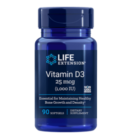 Life Extension Vitamin D3 1000 IU, 90 softgels
