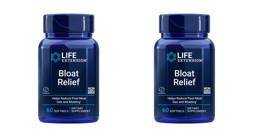 Life Extension Bloat Relief, 60 Softgels, 2-packs