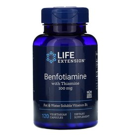 Life Extension Benfotiamine with Thiamine, 100 mg, 120 Vegetarian Capsules