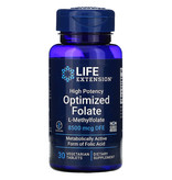 Life Extension High Potency Optimized Folate, 8500 mcg DFE, 30 Vegetarian Tablets
