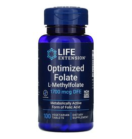 Life Extension Optimized Folate, L-Methylfolate, 1,700 mcg DFE, 100 Vegetarian Tablets