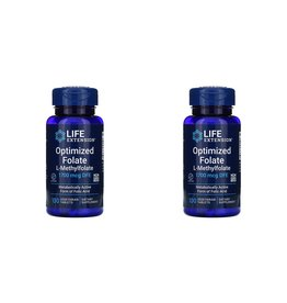 Life Extension Optimized Folate, L-Methylfolate, 1,700 mcg DFE, 100 Vegetarian Tablets, 2-pack