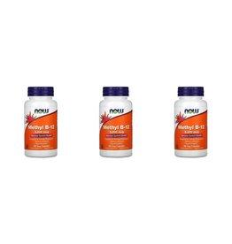 Now Foods Methyl B-12, 5,000 mcg, 90 Veg Capsules, 3-pack