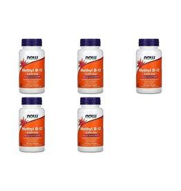 Now Foods Methyl B-12, 5,000 mcg, 90 Veg Capsules, 5-pack