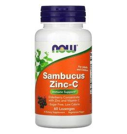 Now Foods Sambucus Zinc-C, 60 Lozenges