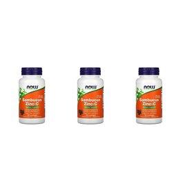Now Foods Sambucus Zinc-C, 60 Lozenges, 3-packs