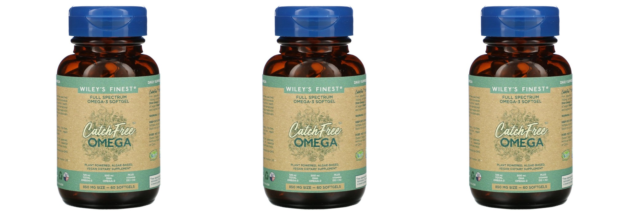 Wiley's Finest CatchFree Omega, 60 Softgels, 3-packs