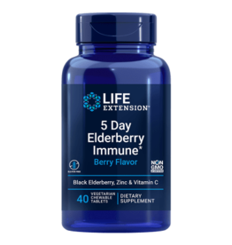 Life Extension 5 Day Elderberry Immune, 40 Chewable Tablets