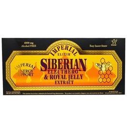 Imperial Elixir Siberian Eleuthero & Royal Jelly Extract, Alcohol Free, 4000 Mg, 30 Bottles, 0.34 Fl Oz (10 ml) Each