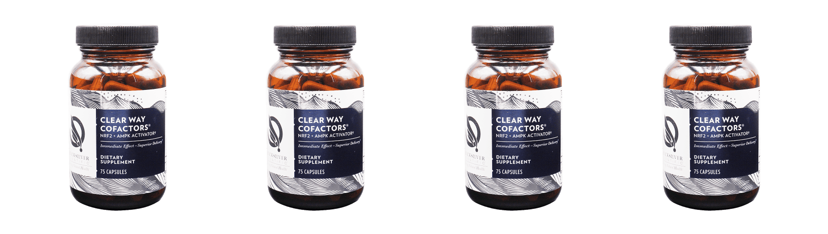 Quicksilver Scientific Clear Way Cofactors®, 75 Capsules, 4-packs
