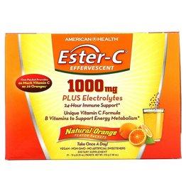 American Health Ester-C Effervescent, Natural Orange Flavor, 1,000 mg, 21 Packets, 0.35 Oz (10 g) Each