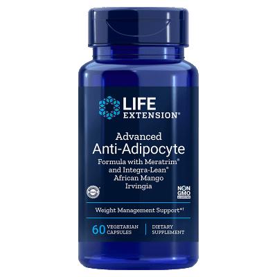 Life Extension Advanced Anti-Adipocyte Formula with Meratrim® and Integra-Lean® African Mango Irvingia, 60 Vegetarian Capsules