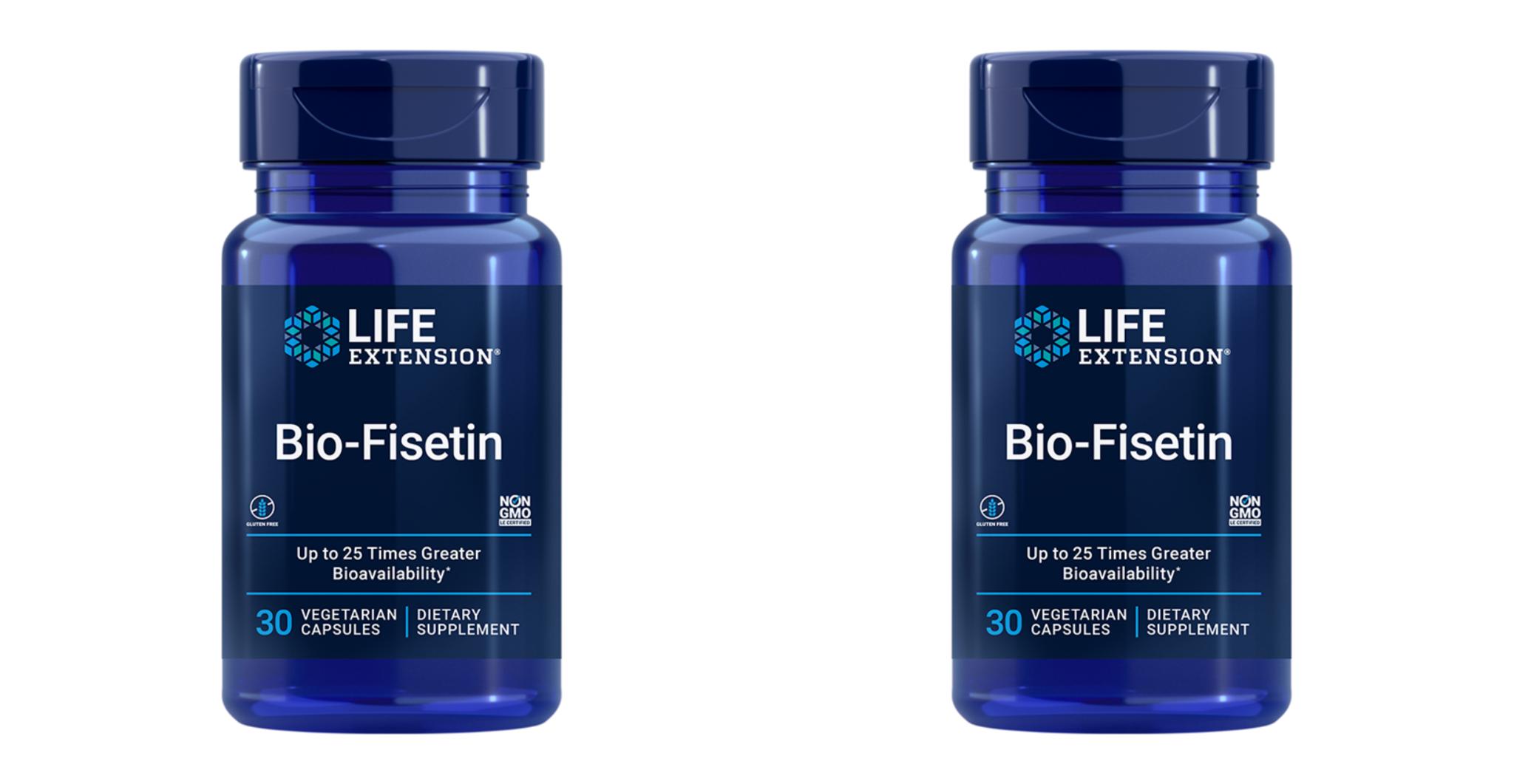 Life Extension Bio-Fisetin, 30 Vegetarian Capsules, 2-packs