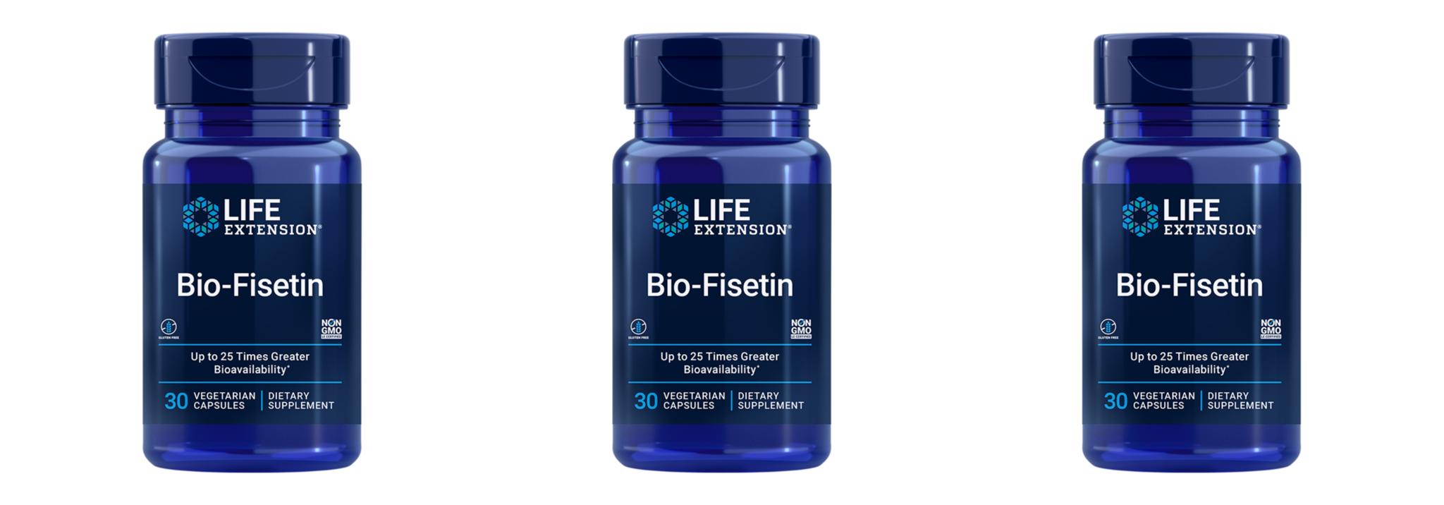 Life Extension Bio-Fisetin, 30 Vegetarian Capsules, 3-packs