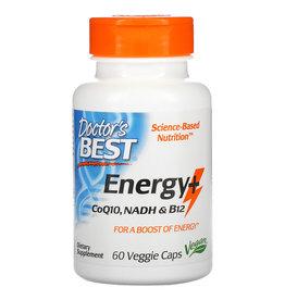 Doctor's Best Energy+ CoQ10, NADH & B12, 60 Veggie Caps
