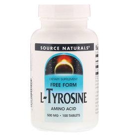 Source Naturals L-Tyrosine, 500 mg 100 Tablets