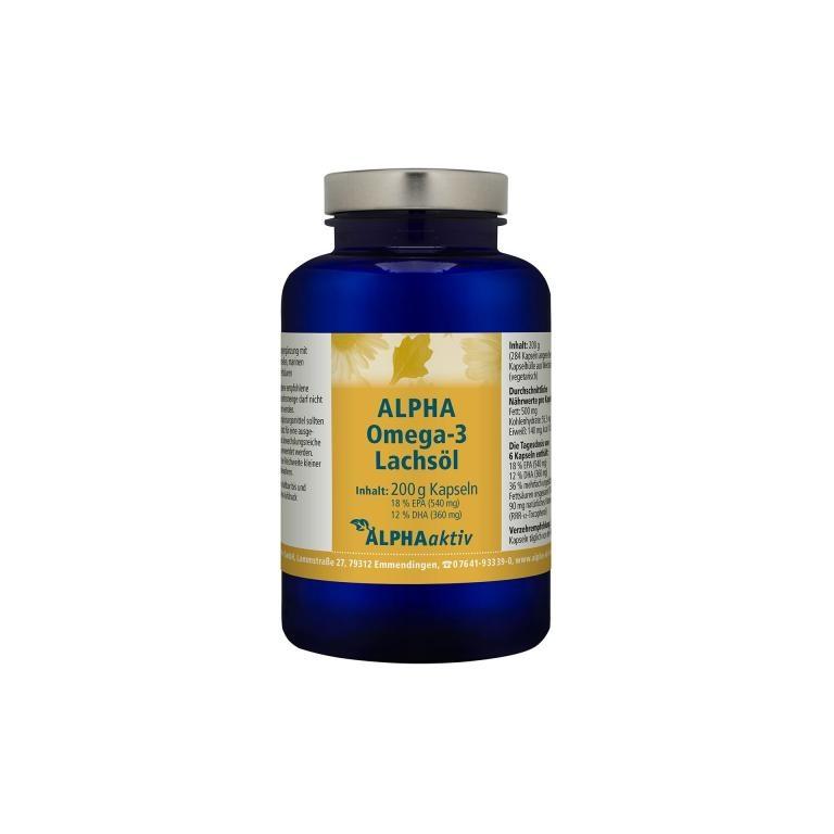 ALPHAaktiv ALPHA Omega-3 Lachsöl, 200 g.