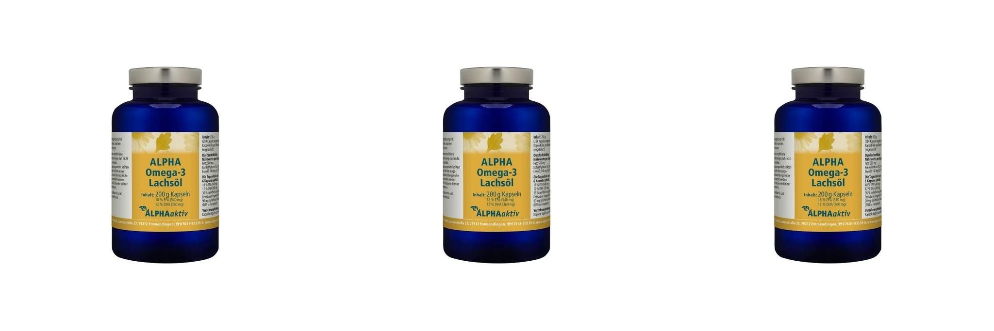 ALPHAaktiv ALPHA Omega-3 Lachsöl, 200 g., 3-packs