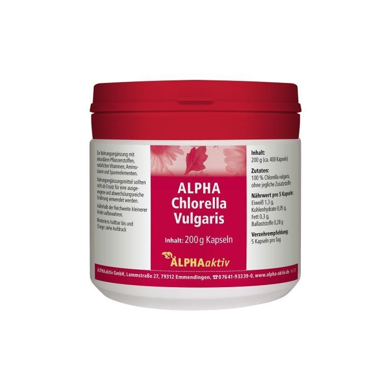 ALPHAaktiv ALPHA Chlorella Vulgaris, 200 g.