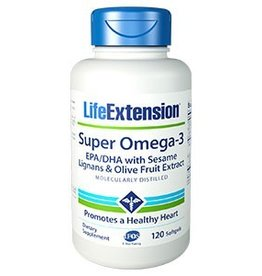Life Extension Super Omega-3 EPA/DHA with Sesame Lignans & Olive Fruit Extract softgels