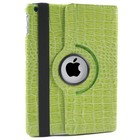 iPad Mini 1, 2 en 3 Hoes 360° Krokodillenleer Groen