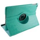 iPad Mini 1, 2 en 3 Hoes 360° Krokodillenleer Blauw