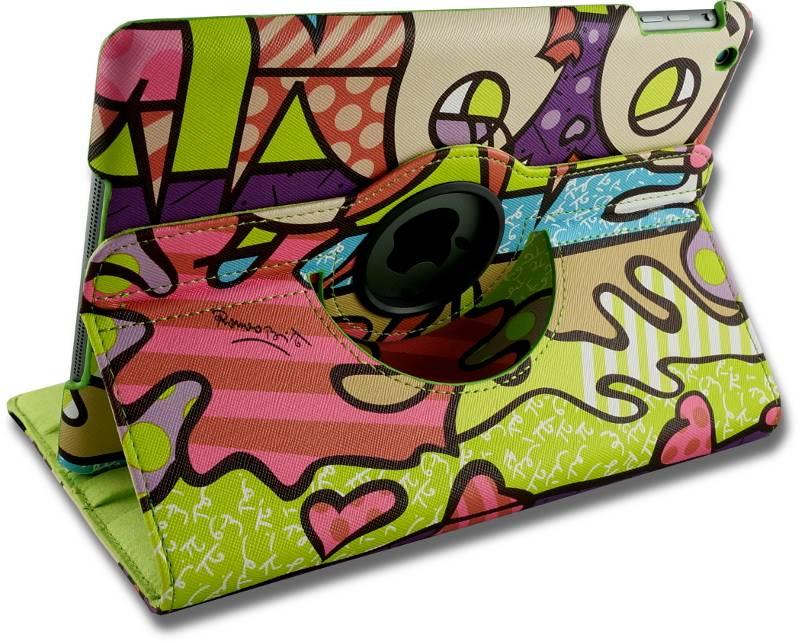 iPad Hoes 360° Draaibaar Lovely Fish Roze. Voor de iPad Air
