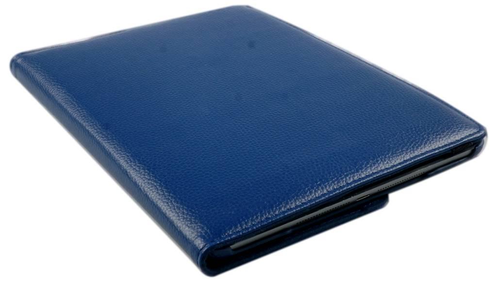 iPad Hoes 360° Draaibaar Leer Donker Blauw. Voor de iPad Air.